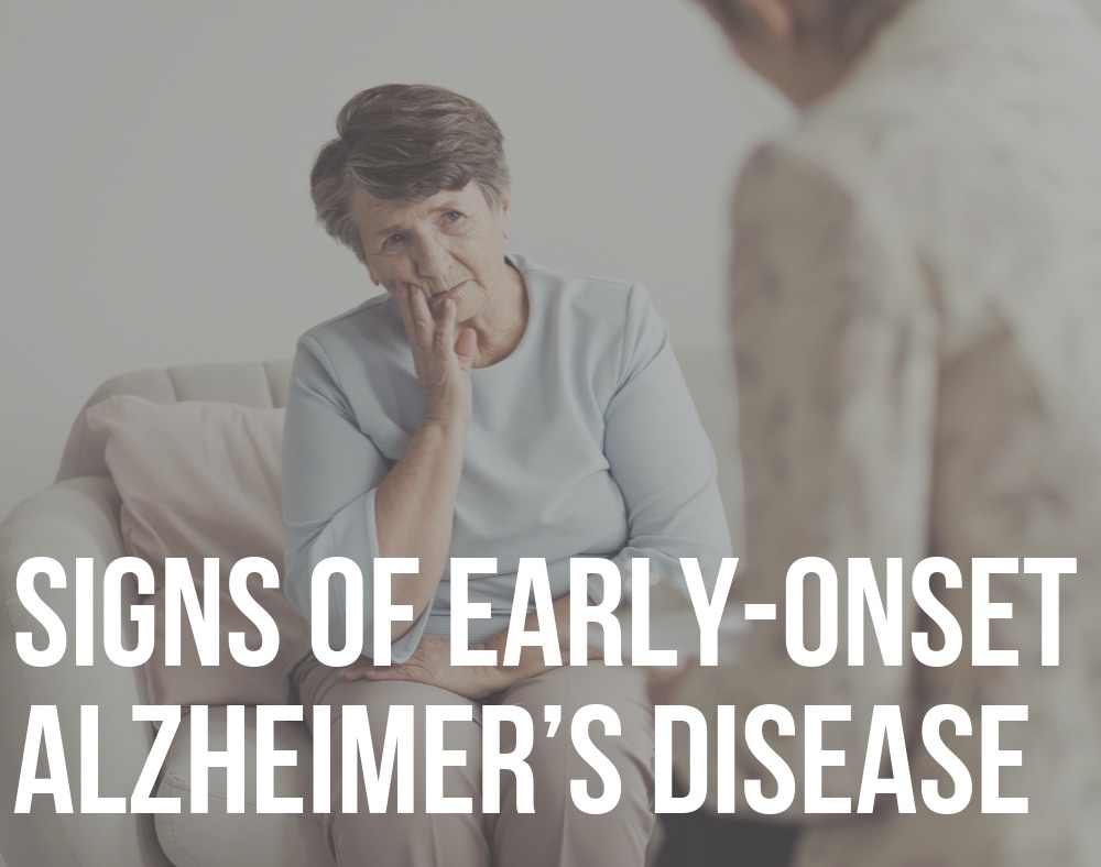 signs of early onset alzheimer's