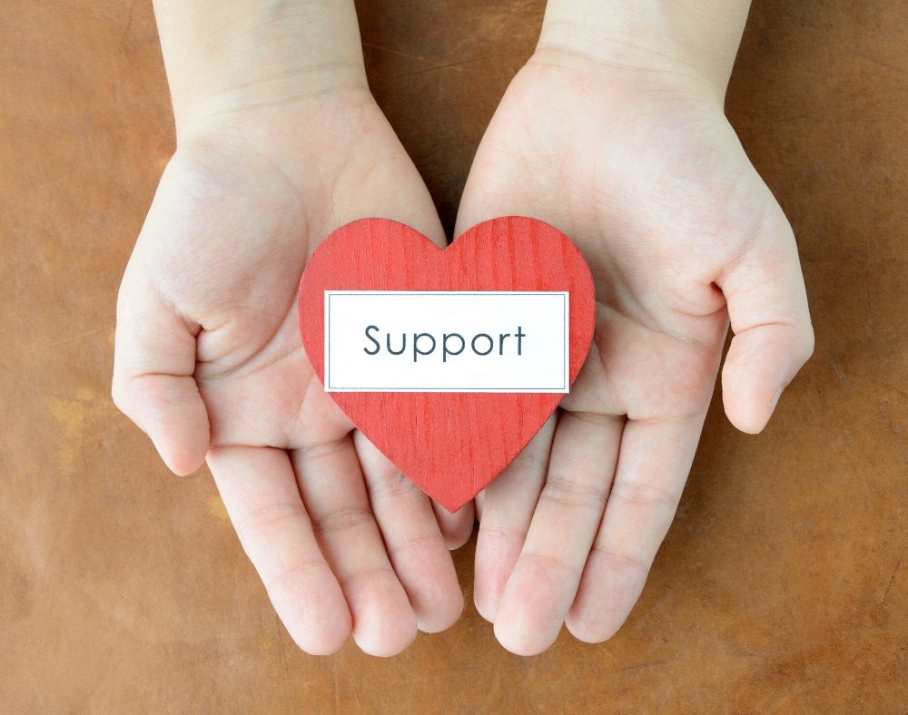 offer support and reassurance