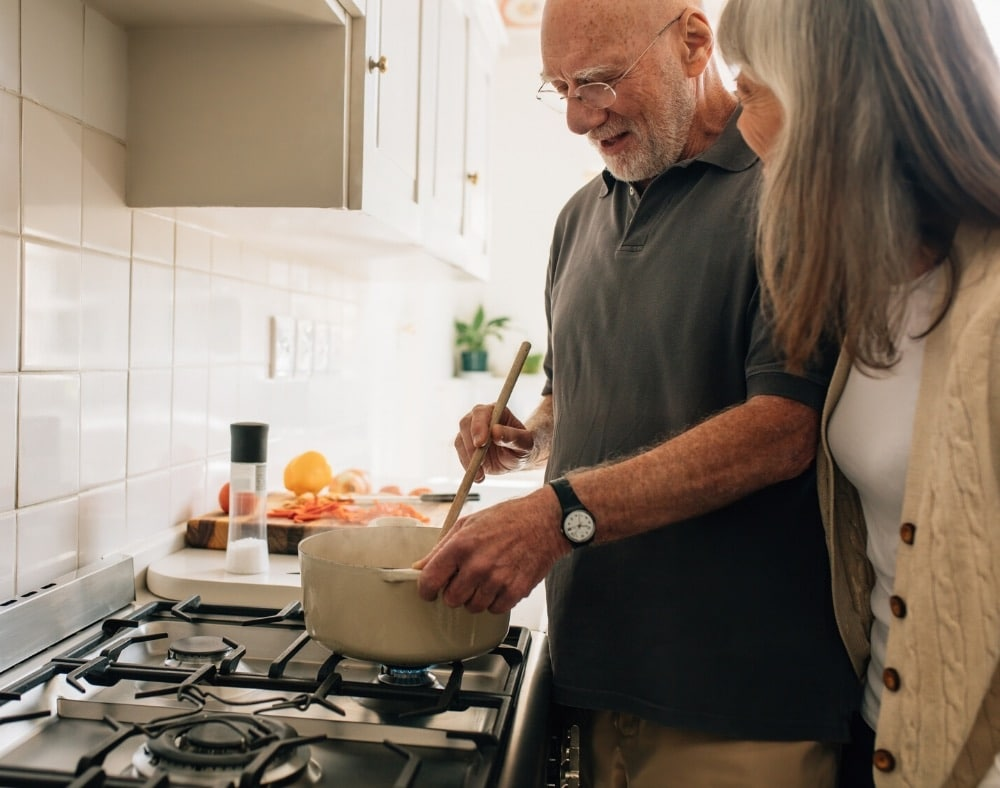 involving the patient in meal preparation