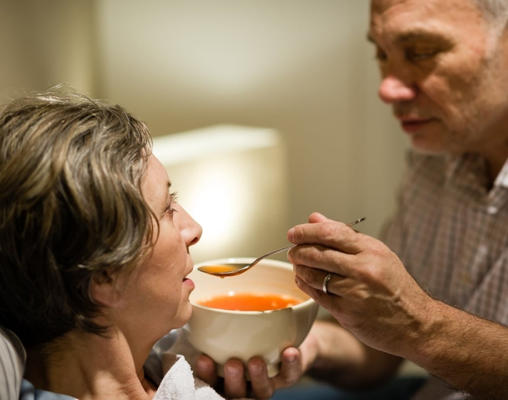 what causes a dementia patient to stop eating